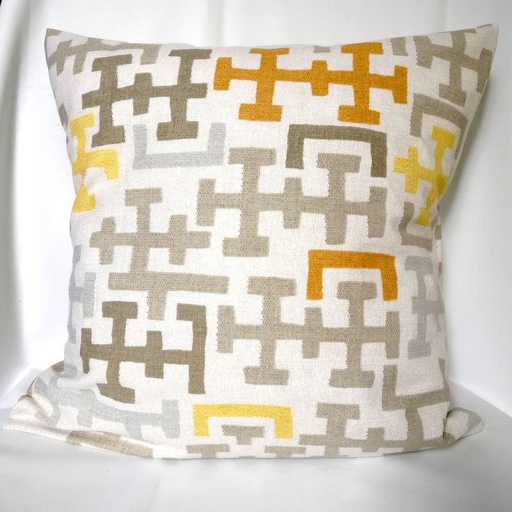 SALE Pillow covers Yellow brown orange Pillow case, gray geometric pillow, Decorative Pillows 16X16, 14x14, 12x12 by DecorAtBest on Etsy https://www.etsy.com/listing/523644982/sale-pillow-covers-yellow-brown-orange