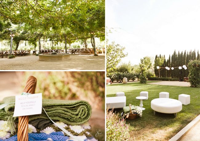 love the outdoor lounge area and blankets to keep warm!