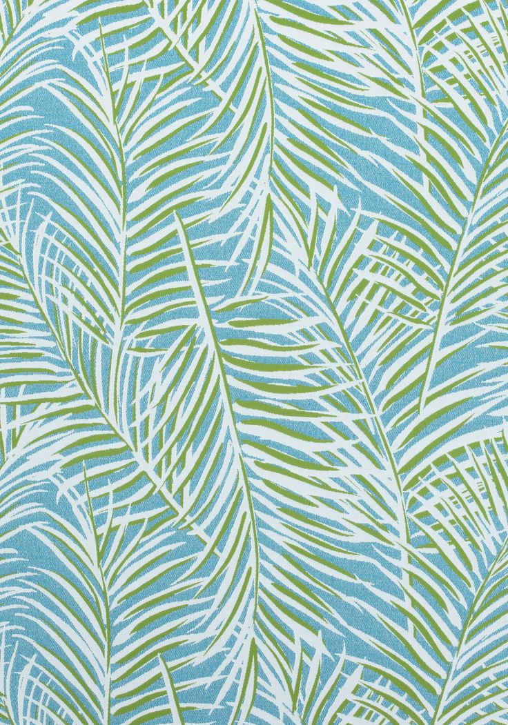 WEST PALM WOVEN, Kiwi on Spa Blue, W80563, Collection ...
