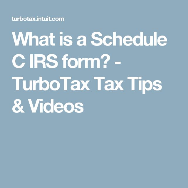 What is a Schedule C IRS form? - TurboTax Tax Tips & Videos
