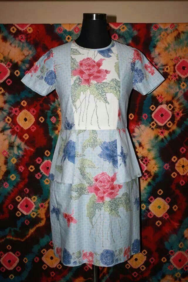 Dress batik pekalongan