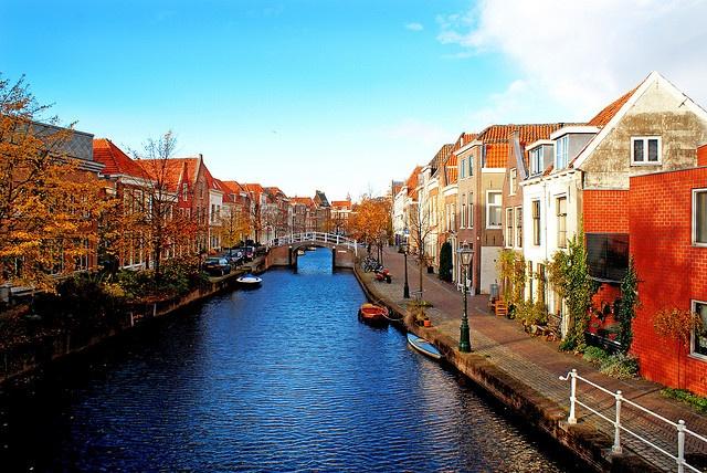 Leiden Canals, Netherlands.