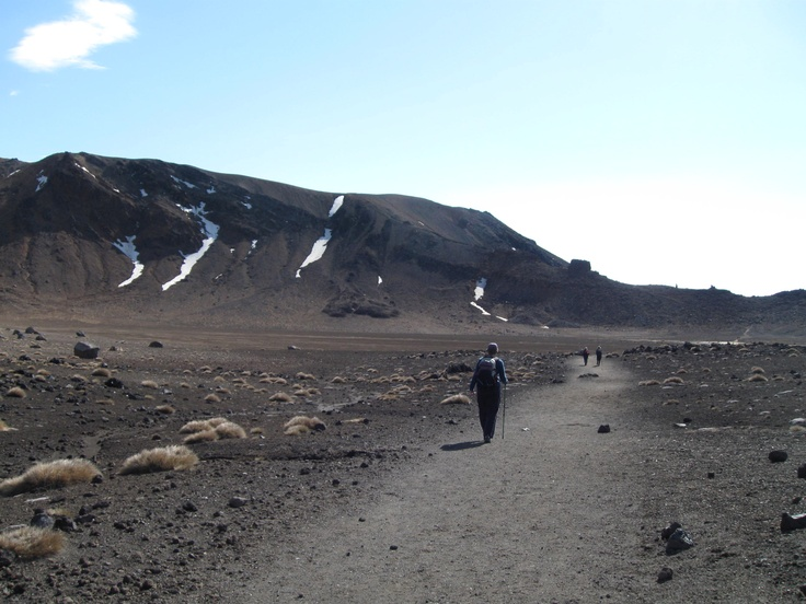Heading north across South Crater