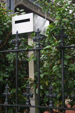 Ned Kelly freestanding letterbox