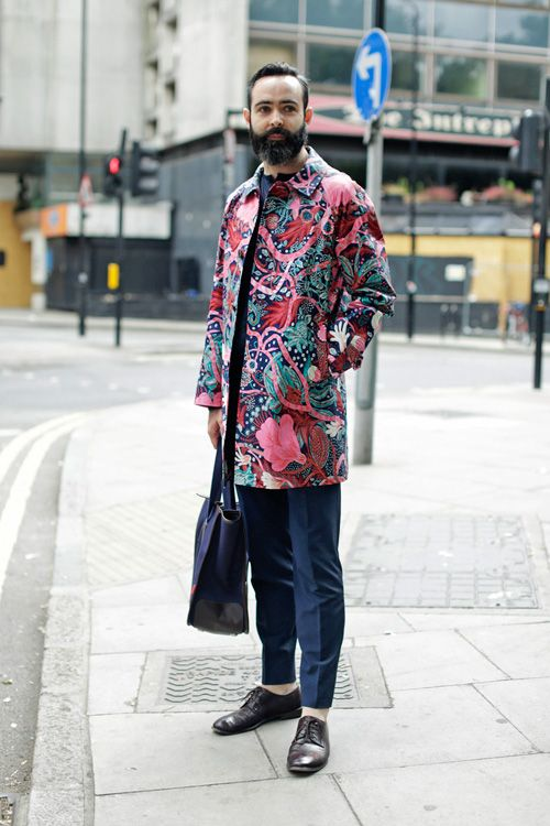 Fantasy Coat - London Collections: Men Spring/Summer 2015 Street Style