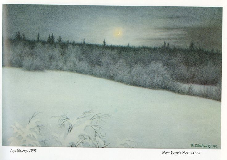 Theodor Kittelsen, New Moon [i miss winter]