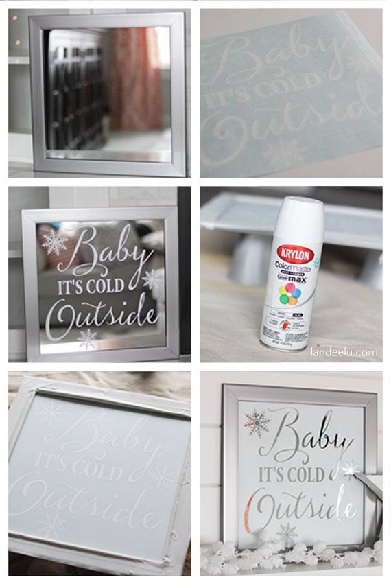 This is the vinyl lettering to be used as a stencil as seen here in this post:  http://www.landeeseelandeedo.com/2015/12/diy-mirror-art-and-winter-white-mantel.html  It fits on a 13x13 mirror (found at Target). See full instructions at the link above