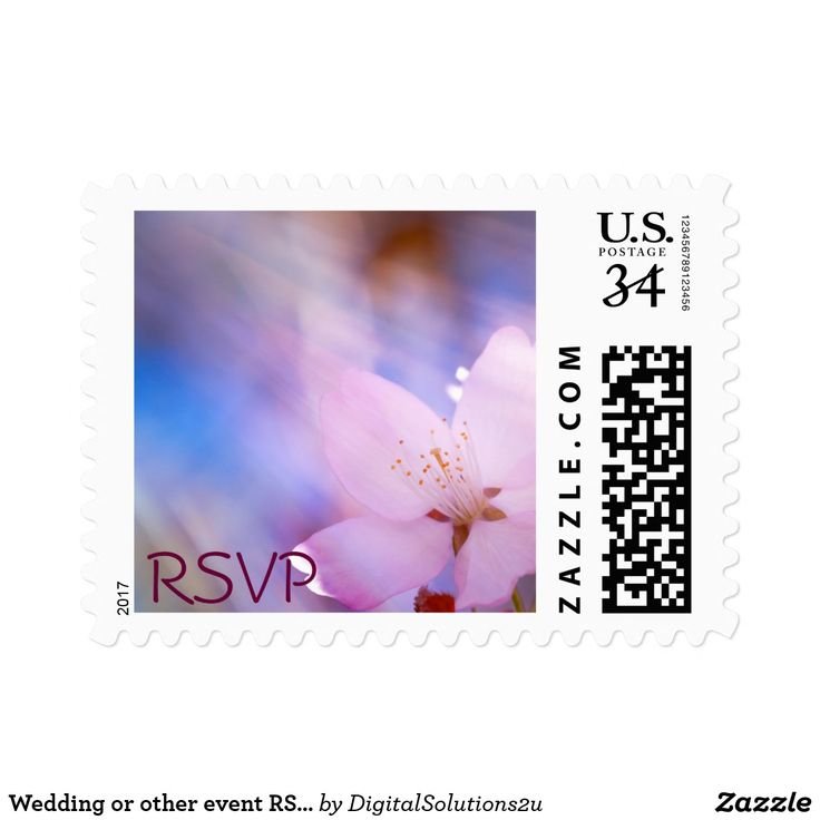 Wedding or other event RSVP small Postage