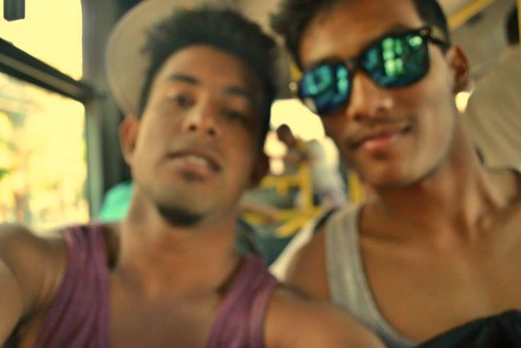 Mah bro and I trying to find how to freaking focus while taking a pic! :))