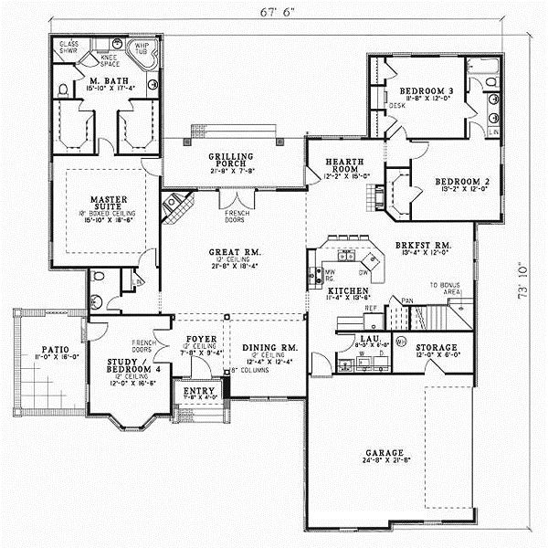 European Style House Plans 2606 Square Foot Home 1