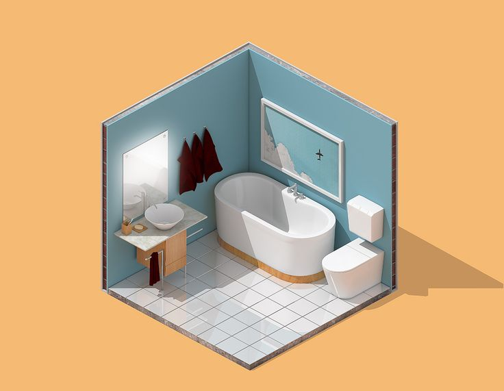 Mini isometric bathroom.  The details are flawless.