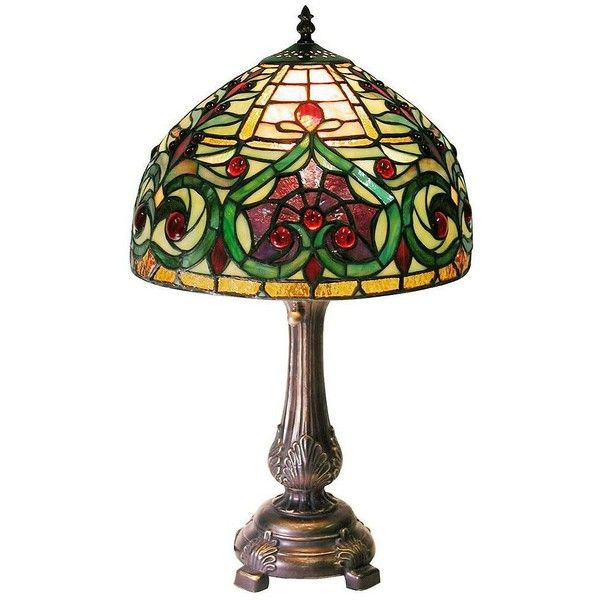 Victorian Petite Ivory and Green Tiffany Style Table Lamp (€190) ❤ liked on Polyvore featuring home, lighting, table lamps, lamps, table lamp, green, cream table lamps, ivory table lamp, alabaster table lamp and beige shade