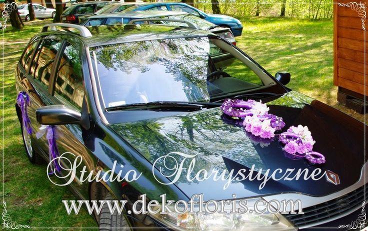 Dekoracja auta ślub - storczyk i róża Opole opolskie