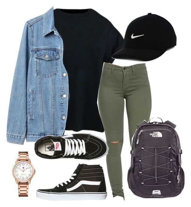 """follow me ;)"" by kingrabia on Polyvore featuring Gap, Tommy Hilfiger, Vans, The North Face and NIKE"