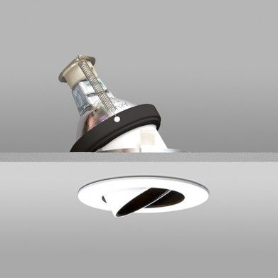 Recessed fixture is adjustable to direct light where necessary led option for maximum