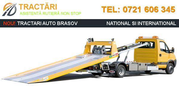 Asistenta rutiera non stop, remorcari auto, tractari auto Brasov si imprejurimi, transport auto pe platforma intern si international.