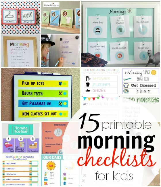 15 Morning Routine Checklists for Kids