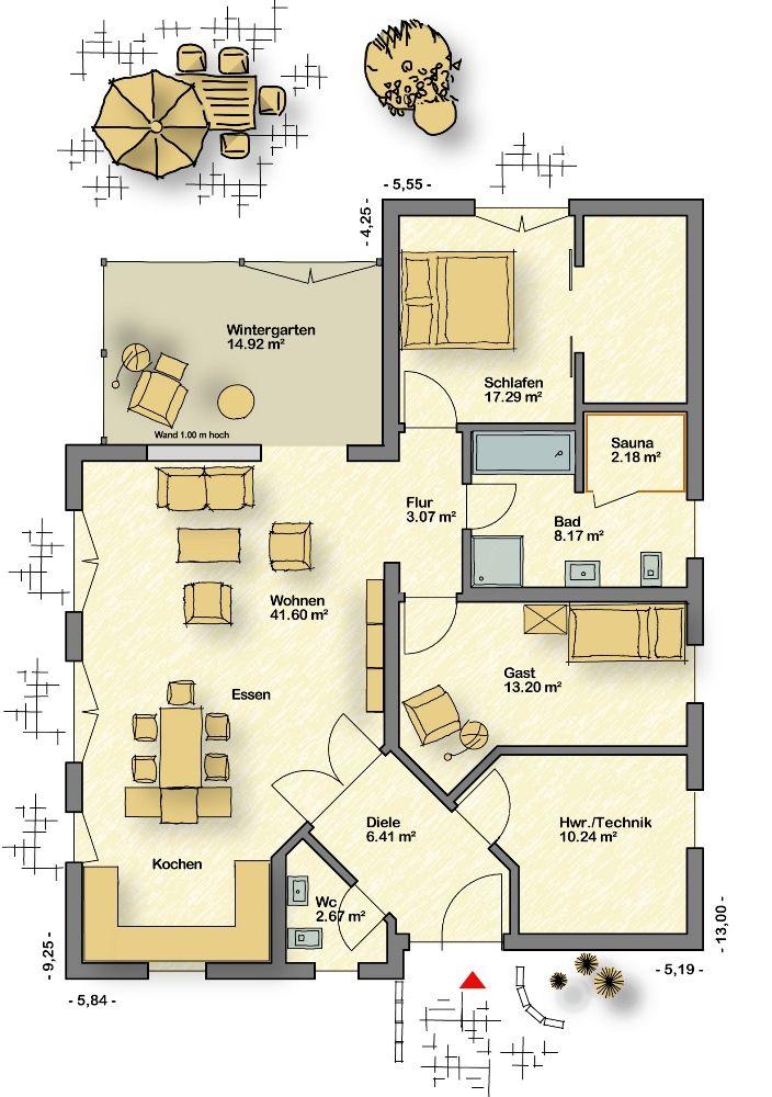 Bungalow Campus 120 Mit Walmdach Partner Haus Musterhaus Bungalow