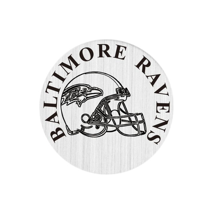 22mm Floating Charms Stainless Steel BALTIMORE RAVENS Window Floating Plates For 30mm Living Floating Lockets #Affiliate