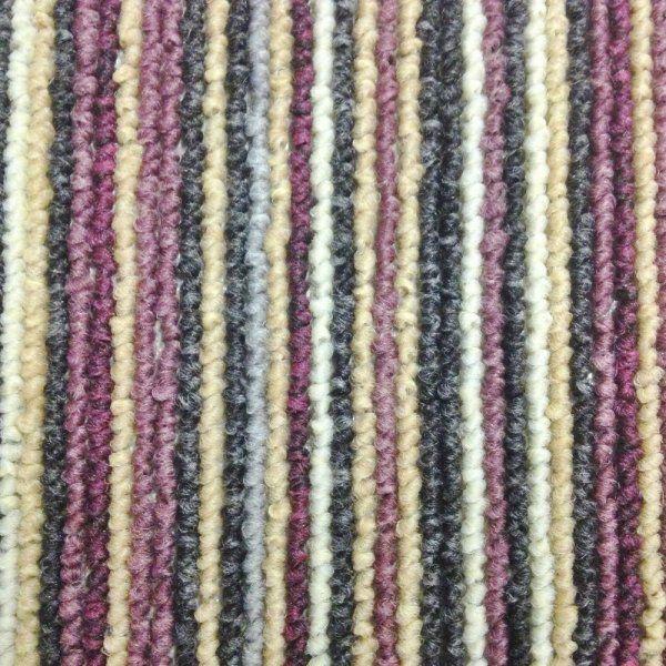 Allfloors Fancy Stripe Col. 4765 100% Polypropylene Purple Stripe Felt Backed Carpet