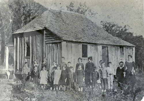Mt Berryman State School opened 1886 This photo taken in 1928