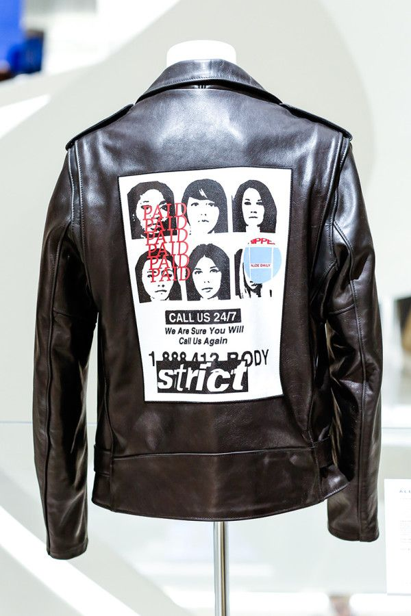 - Alexander Wang's custom leather jacket atBarneys New York.