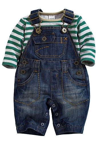 Newborn Clothing - Baby Clothes and Infantwear - Next Denim Dungarees With Bodysuit - EziBuy Australia
