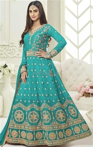 Enrich Your Wardrobe With Bollywood Heroine Krystle D'Souza Energized Designer A-Line Suit. Embroidery, Stones, Full Sleeves, V-neck Etc. Are Glorifying It. http://www.designersandyou.com/dresses/bollywood-dresses #Designersandyou #Outfits #Party #Latest #Dress #Dresses #Suits #Suit #Salwar #Kameez #Salwarkameez #Indian #Fashion #Simple #Gowns #Modern #Awesome #Style #Salwarsuits #Wedding #Actress #Celebrity #Bollywood #Bollywooddresses #Celebrities #KrystleDsouza