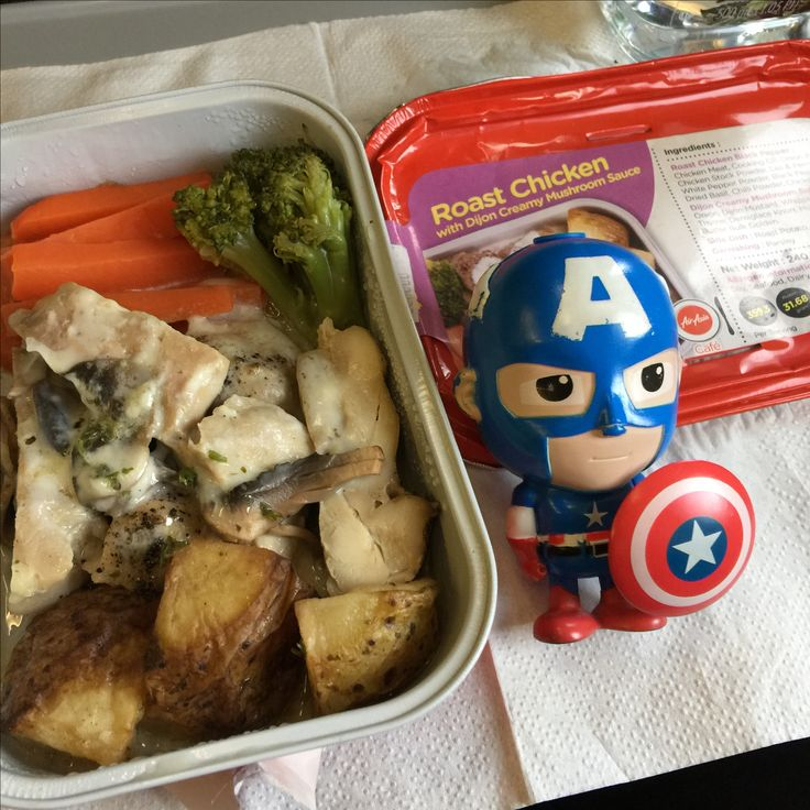 Menu : Roast Chicken with Dijon sauce from Air Asia airlines, route ...