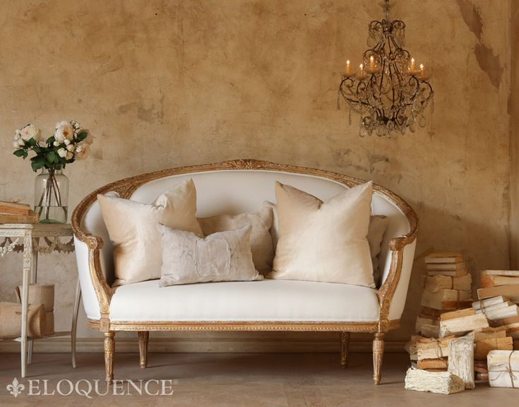 Eloquence Versailles Canape Sofa in Gold Leaf