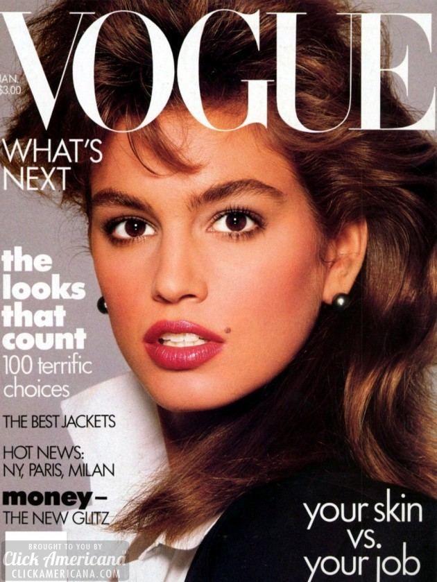 Cindy Crawford Vogue January 1987