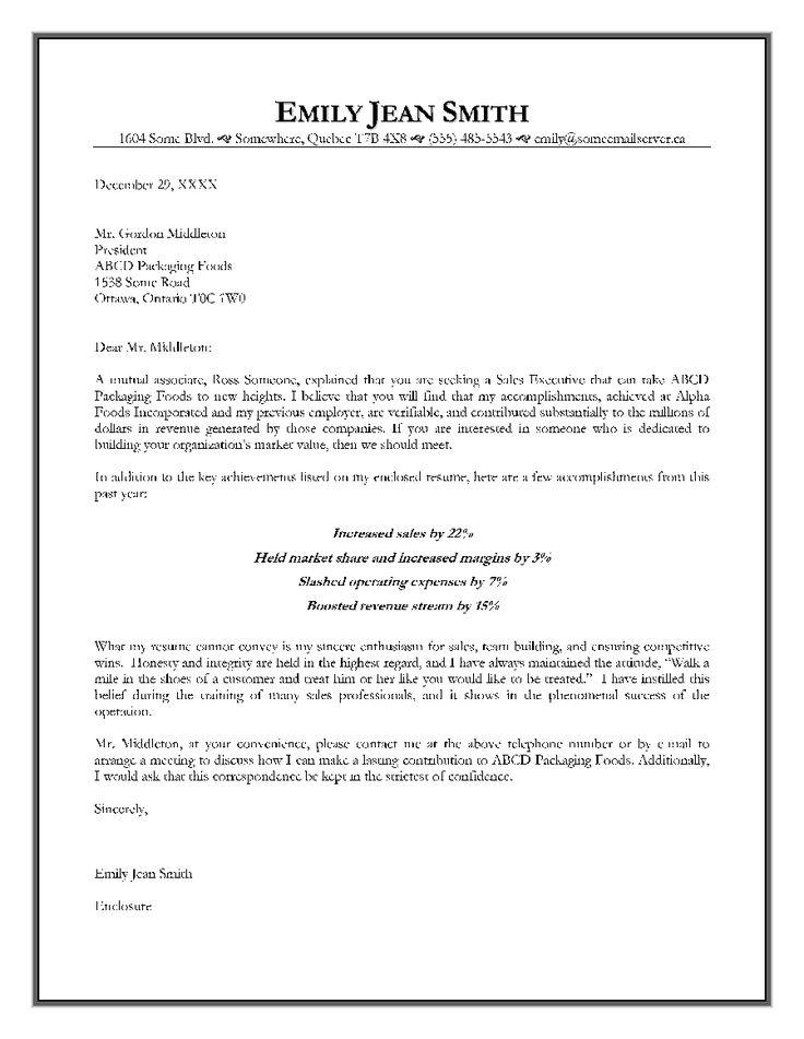 Sales Offer Letter Sample. 175 High Impact Cover Letter Sales ...