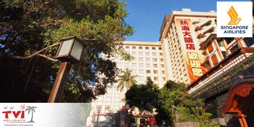 S$488.00 - Taiwan on SQ Flight: 4D3N Stay at Choice of Hotel – Includes Return SQ Air Ticket   Airport Transfer   Daily Breakfast   Full-Day Wulai Hot Spring or ChiuFen Tour   Hot Spring Voucher   Facial Mask Pack   NT$100 Value MRT Card   Gift Pack (Min 2 Pax).   www.Coupark.com - All Best Discount Deals in Singapore