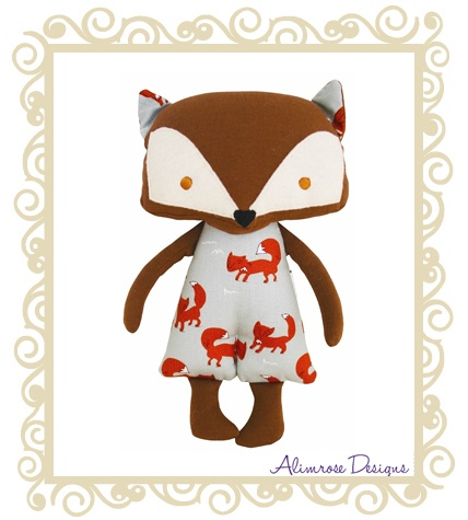 Alimrose Designs Mr Fox  Alimrose Designs Mr Fox Woodlands Friends Doll. Gorgeous lil fox with fox print outfit. Approx 29cm.  $29.95