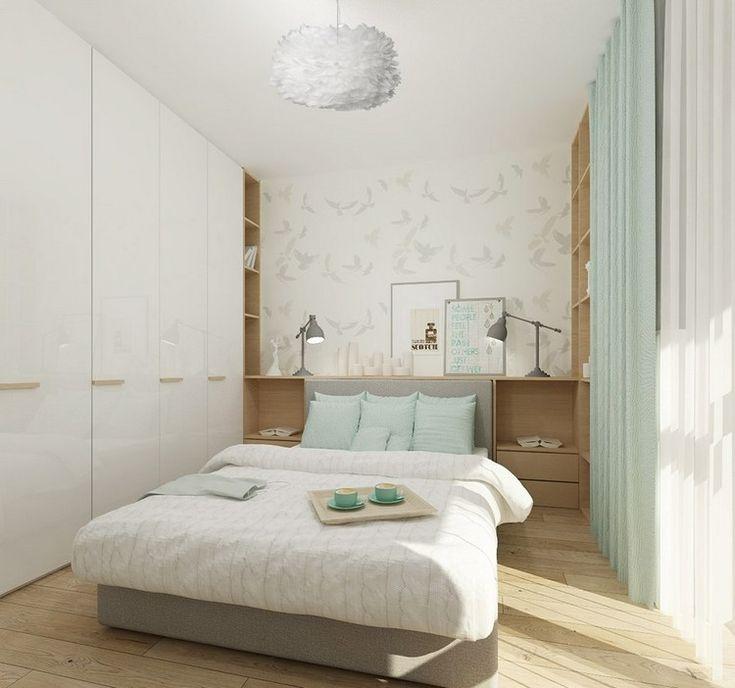 kleines schlafzimmer in wei mintgr n und hellem holz home pinterest kleines schlafzimmer. Black Bedroom Furniture Sets. Home Design Ideas