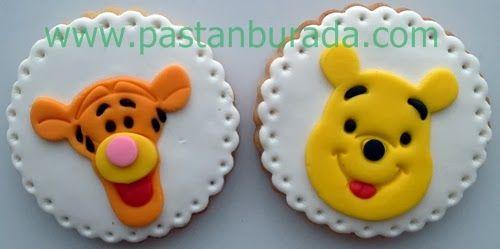 winnie the pooh tiger şeker hamuru kurabiye ankara fondant figure cookie