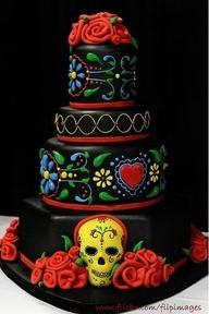 sugar skull cakeHalloween Wedding, Dead Cake, Cake Wreck, Of The, Dead, Wedding Cake, Skull Cake, Day, Birthday Cake