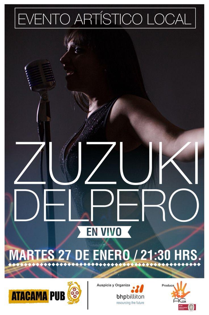 Zuzuki delpero cantante local