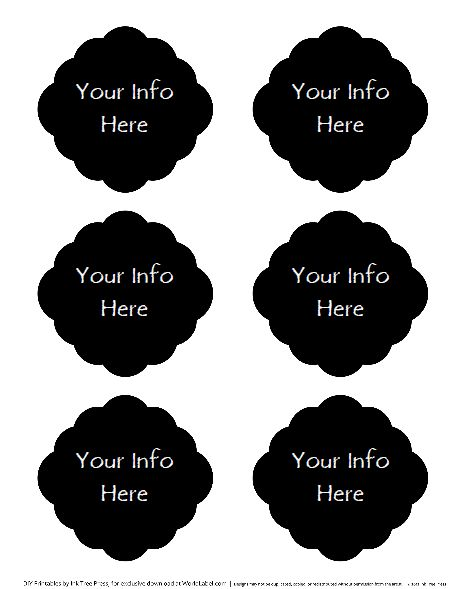 editable faux cahalkboard labels, free to download...brilliant!! (they suggest low res. printing since obviously a lot of black)