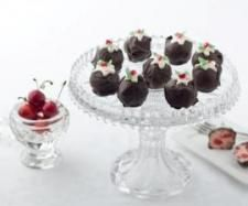 Clone of Cherry Ripe Slice - Chocolate Coated Christmas Coconut Balls | Official Thermomix Recipe Community