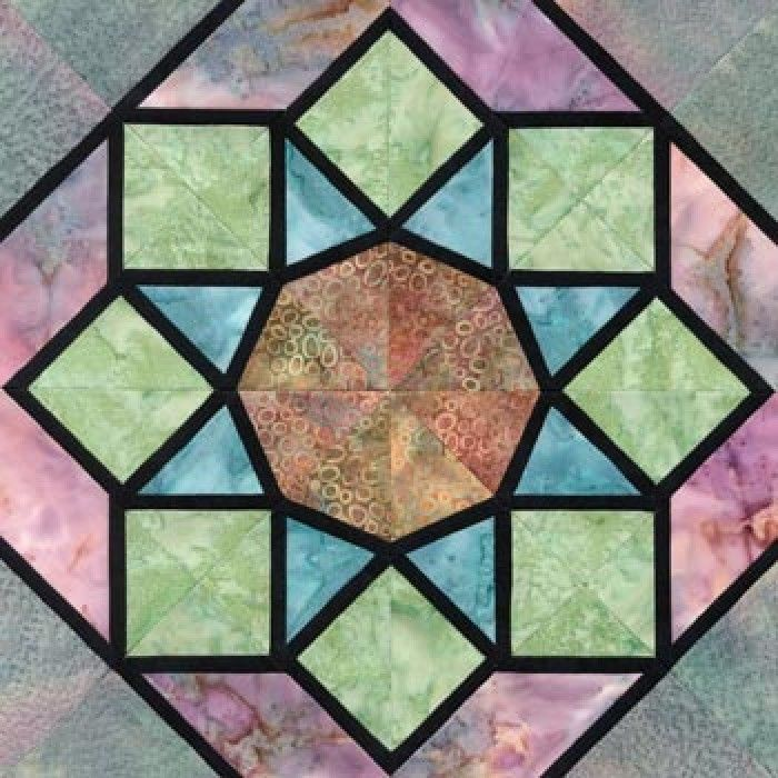 128 best Stained Glass Blocks and Quilts images on Pinterest ... : stained glass window quilt pattern - Adamdwight.com
