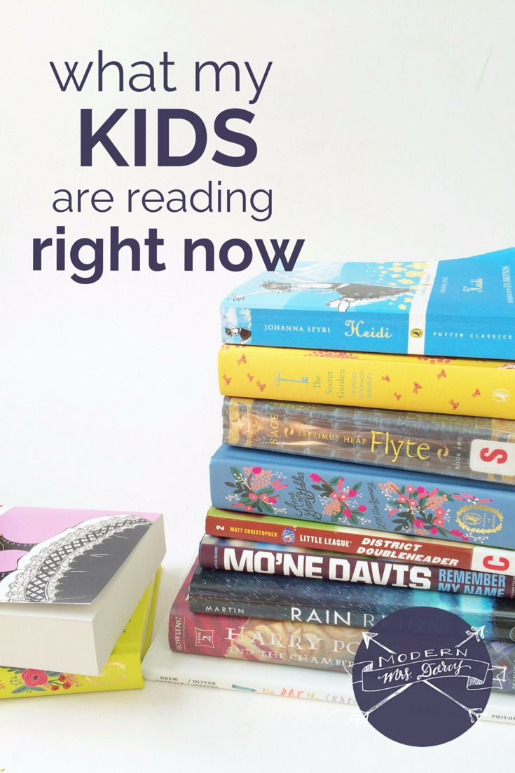 Book A Quick Look At What My Kids Are Currently Reading