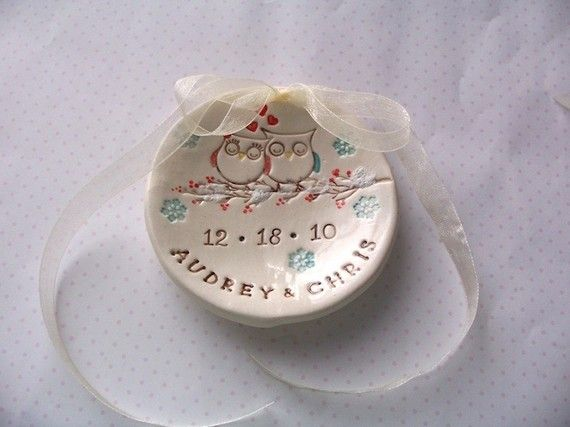 Ring bearer bowl dish  Who whose in love  by wiseimpressions, $15.00