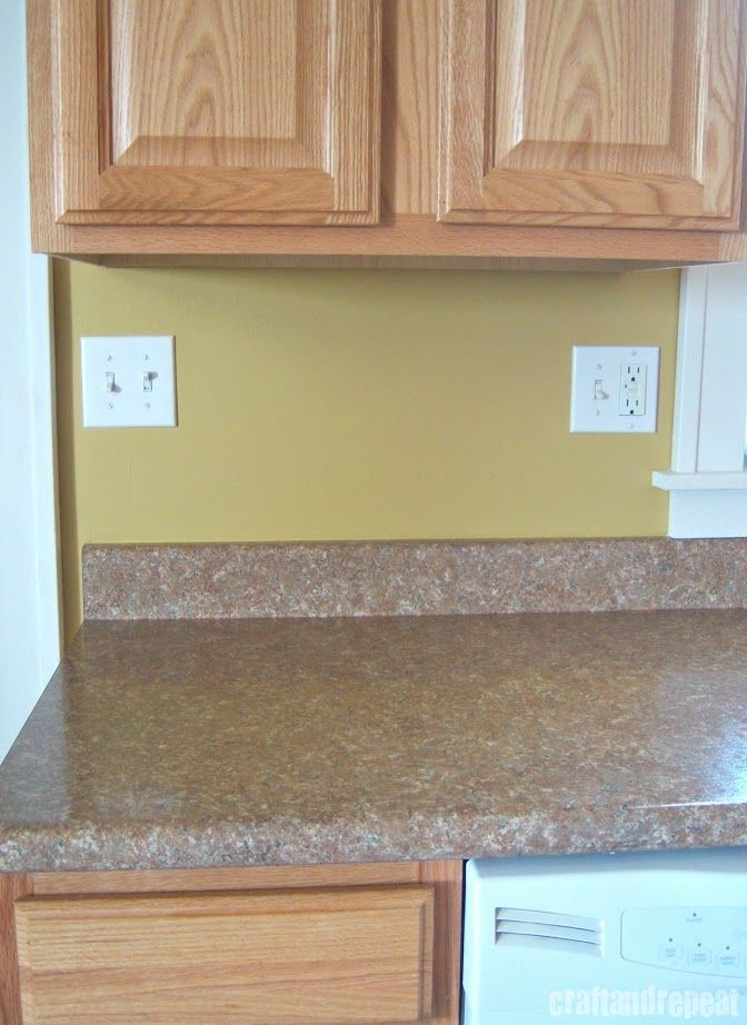 Six Dollar Kitchen Countertop Transformation