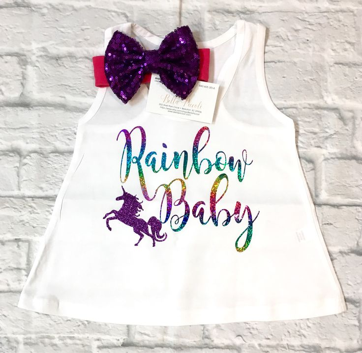 A personal favorite from my Etsy shop https://www.etsy.com/listing/530320824/baby-girl-clothes-rainbow-baby-shirts