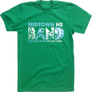 band t shirt designs high school custom tshirts you take notes we make them