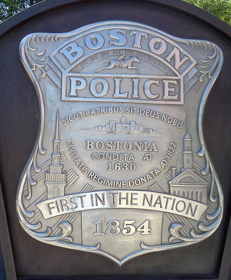 Boston Words and Phrases | JP First Responders: Decoding the Boston Police badge | Jamaica Plain ...