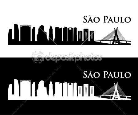 São Paulo horizonte ilustração