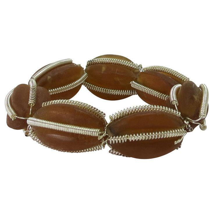 Park B. Smith Glass Beaded Napkin Ring 12-pk., Brown