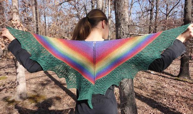 Liana Shawlette - Knitting Patterns and Crochet Patterns from KnitPicks.com